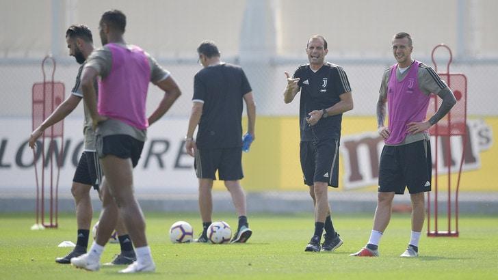 Juventus, Allegri: «Ronaldo non deve dimostrare nulla. Douglas Costa? Basta parlarne»