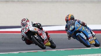 Moto3 Aragon, Jorge Martin davanti a tutti, gli italiani inseguono