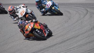 Moto2 Aragon: vince Binder ma Bagnaia è 2° e scappa in classifica