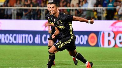 Juve, Cristiano Ronaldo esulta sui social: «Avanti così tutti insieme»