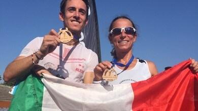 Emma Quaglia e Riccardo Borgialli, campioni italiani di Trail Corto alla Salomon Running Milano