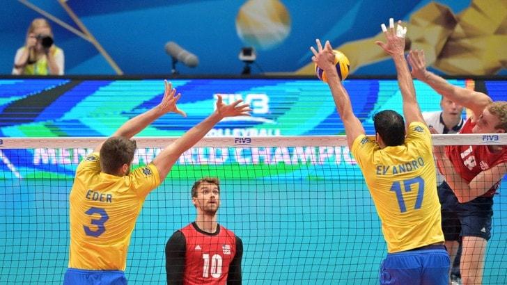 Volley: Mondiali 2018, Brasile travolgente con gli Usa, prima nella Pool I