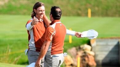 Golf, Ryder Cup: Molinari da record, tris su Wood. Europa prende il largo