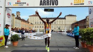 Podio tutto Keniano alla Torino Half Marathon