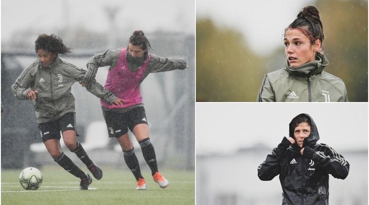 Juventus Women, di corsa sotto la pioggia verso la Supercoppa