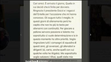Antonio Cassano, stop al mondo del calcio