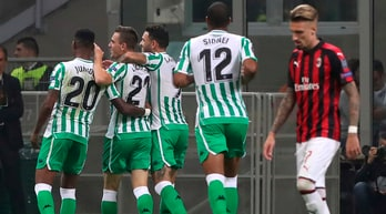 Milan-Betis1-2: Sanabria-Lo Celso gelano San Siro, non basta Cutrone