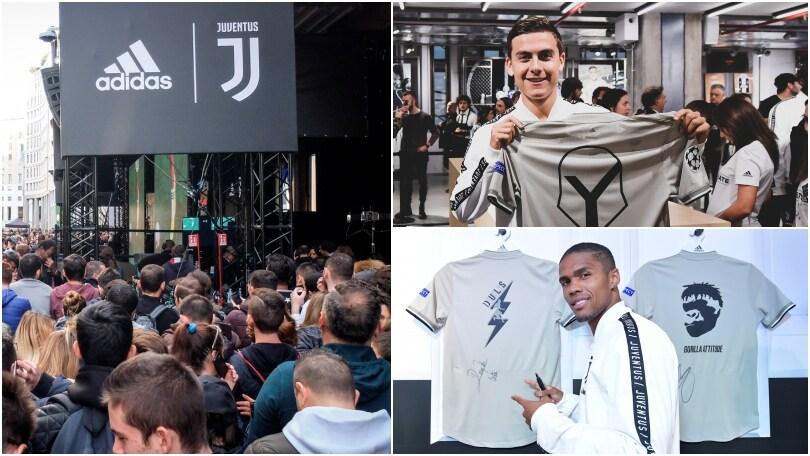 Bagno di folla per la Juventus all'Adidas Store