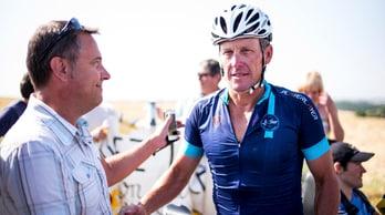 Ciclismo, Ruta Conquistadores: Armstrong in sofferenza