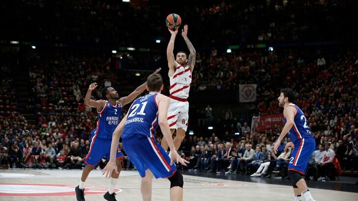 Eurolega: Milano batte l'Anadolu Efes