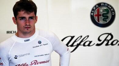 F1, Leclerc: «Felice della Sauber, ma voglio la Ferrari»
