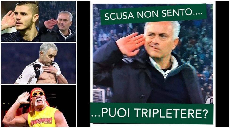 La provocazione del tecnico portoghese nei confronti dei tifosi della Juve ha acceso il dibattito sul web