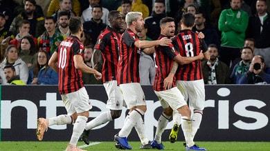Europa League, Betis-Milan 1-1: Gattuso ringrazia Suso
