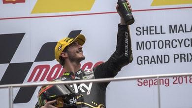 Moto2 Sky Racing Team VR46, Bagnaia: «Ora festeggio, nel 2019 in MotoGp»