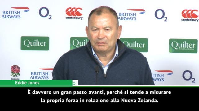 """Rugby, Jones: """"Grande passo avanti per l'Inghilterra"""""""