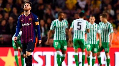 Liga, tonfo Barcellona: al Camp Nou finisce4-3 per ilBetis