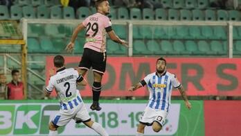 Serie B, Palermo-Pescara 3-0: rosanero primi in classifica