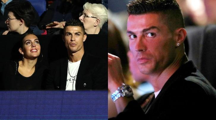 Ronaldo, serata da tifoso di Djokovic alle Atp Finals: risate con Georgina e il figlio