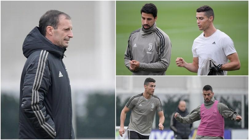 """Juventus, Ronaldo è già """"caldo"""" e sfida il freddo alla Continassa"""