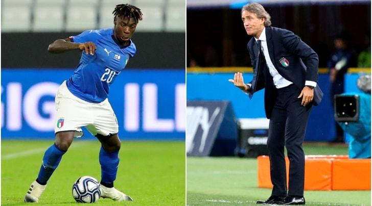 Italia, Mancini stregato da Kean:«Contro gli Usa starà con noi»