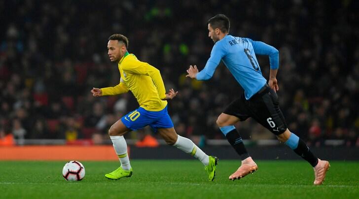 Brasile-Uruguay 1-0: decide Neymar su rigore