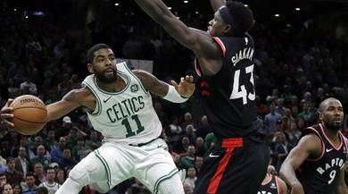 Nba, terza sconfitta consecutiva per i Raptors: Boston vola con 43 punti di Irving