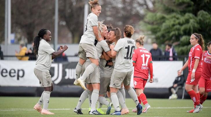 Juventus Women, bentornate: cinquina alla Pink Bari