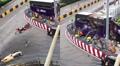 Incidente terribile in F3: l'auto della Floersch prende il volo e si schianta