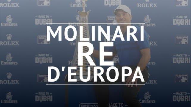 Race to Dubai, impresa Molinari: è lui il n.1 in Europa
