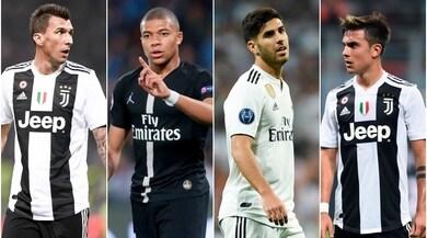 Juventus, da Dybala e Mandzukic a Mbappé e Asensio: ribaltone punte
