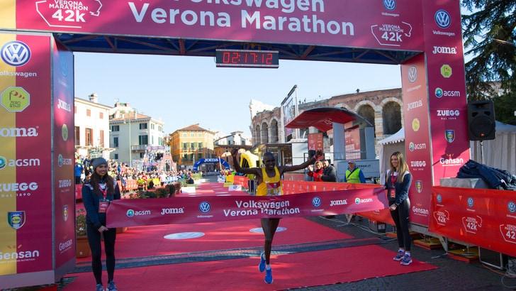 Volkswagen Veronamarathon, Robert Ndiwa e Nikolina Sustic sul podio