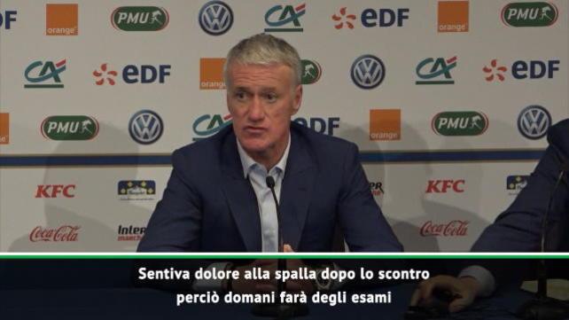 """Deschamps: """"Mbappé? Aspettiamo gli esami"""""""