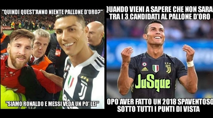 Pallone d'oro, Ronaldo fuori dal podio: i social insorgono