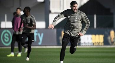 Juventus, Emre Can torna in campo con i compagni di squadra