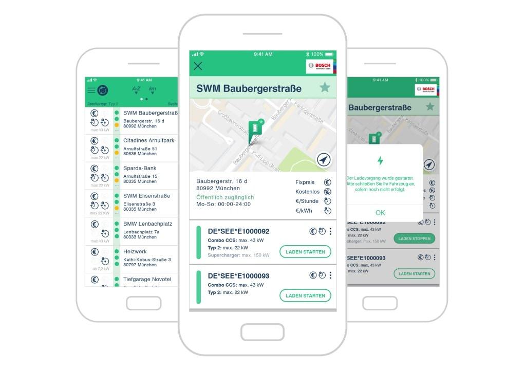 Bosch e un sito tedesco sviluppano un'applicazione per le auto elettriche