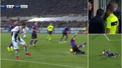 Fiorentina-Juventus: De Sciglio chiede il rigore, Orsato e il Var dicono no