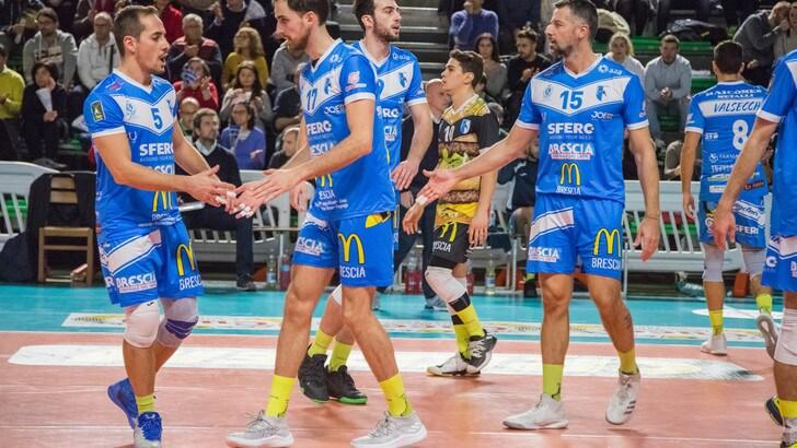 Volley: A2 Maschile, Girone Bianco, Brescia mezzo passo falso contro Santa Croce