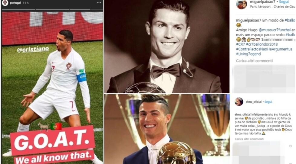 Dalle sorelle Elma e Katia Aveiro alla federazione del Portogallo fino all'amico Miguel Paixao, tutto l'entourage di Ronaldo si scaglia contro il verdetto di Parigi che ha premiato il croato del Real Madrid