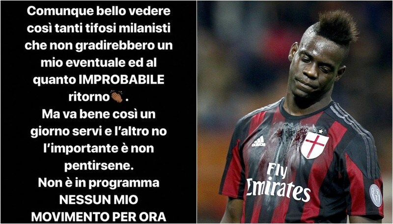 Balotelli polemico: