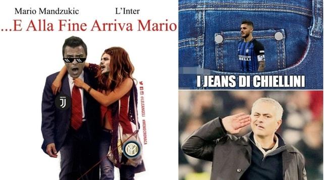 Mandzukic stende l'Inter, festa Juventus: il derby d'Italia visto dai social