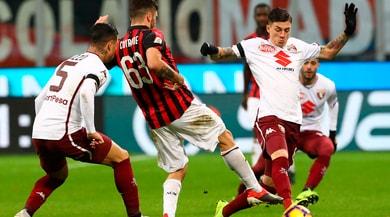 Milan fermato a San Siro, il Torino è al sesto posto