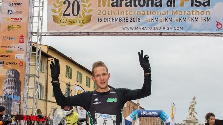 Podio tutto straniero alla  20^ Maratona di Pisa