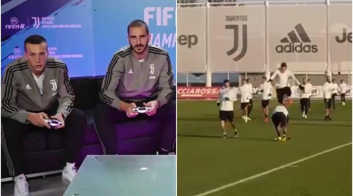 Juventus, Bonucci e Bernardeschi vincono alla Play. E Mandzukic salta l'ostacolo...