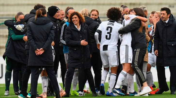 Una cinquina al Verona regala alla Juventus Women il titolo di campione d'inverno