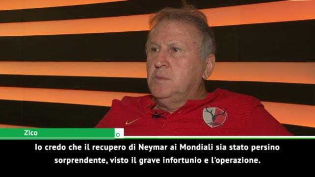 """Zico: """"Un altro Brasile con Neymar al top"""""""