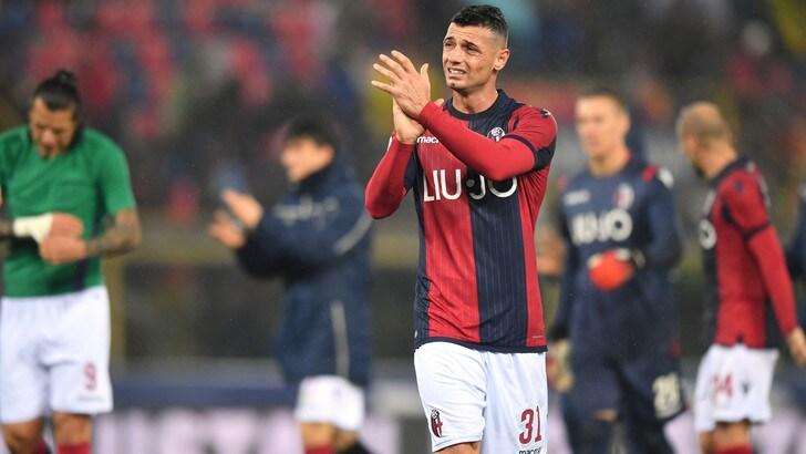 Serie A Bologna, per Dzemaili terapie e differenziato