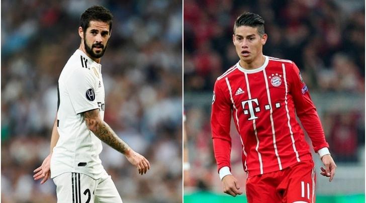 Juventus, Paratici studia le mosse per Isco e James Rodriguez
