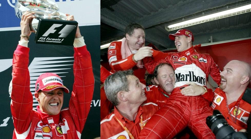Le immagini più belle della carriera del sette volte campione del mondo (2 con la Benetton, 5 con la Ferrari) che oggi festeggia mezzo secolo di vita