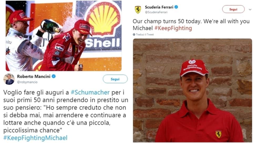 Da Mancini ad Hulkenberg fino a Fisichella, tutti festeggiano il pilota nel giorno del suo compleanno