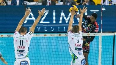 Volley: Superlega, sabato sera lo scontro al vertice fra Trento e Perugia